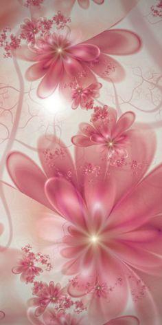 Pretty Pink Flower Art