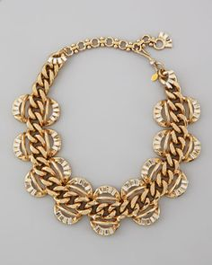 Gold chain necklace.
