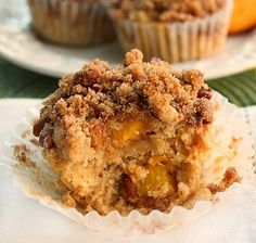 Bunny's Warm Oven: Moist and Delicious Peach Muffins with Crumb Topping
