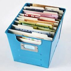 Nice way to store all my scrap cook book paper!