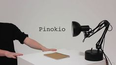 Pinokio - a lamp that is responsive to people. So fun!