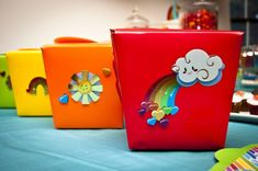cajitas party favors, gift boxes, birthday parties, birthdays, unicorn birthday, rainbow parti, favor boxes, rainbow birthday, birthday ideas
