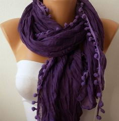 Purple Women Shawl Scarf