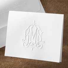 white embossed stationary- gorgeous