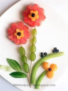 edible art: say it with flowers...