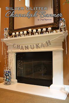 how to make a chanukah silver glitter banner, crafts, seasonal holiday decor