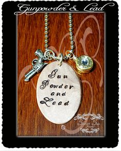 Gunpowder and Lead Bullet Casing Jewelry Necklace by ScarlettSage, $38.50