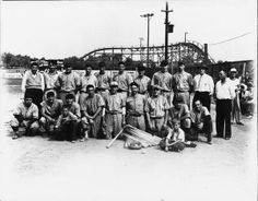 Youngstown, Ohio baseball club ~ Idora Park is in the background