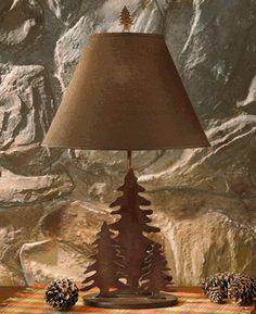 cabin light, lamps, rustic lamp, tree, ridg metal, timber ridg, metal lamp, metals, ridg lamp