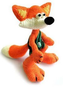 Fox Amigurumi - Free Russian Pattern here: http://knitting-for-babies.ru/igrushki/khitryj-lis