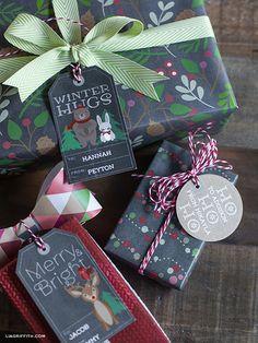 Woodland Christmas Gift Tags & Labels (free printable)