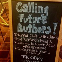 Come to Brown Bag with the Editors....Thursday at the convention center...