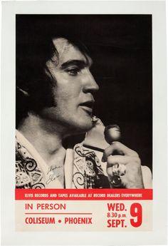 #Elvis Presley Phoenix Concert Poster (1970)