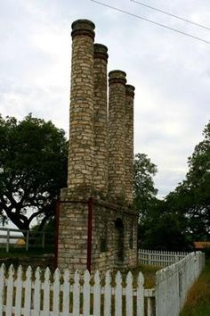 Old Baylor Ruins, columns in Old Baylor Park, Independence Texas