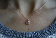 Birthstone Mini Cage Goldfilled Necklace by ATELIERGabyMarcos, $39.00