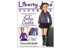 Liberty Jane PDF Pattern for Ellowyne Wilde Doll Clothes | Liberty Jane Doll Clothes Patterns For American Girl Dolls