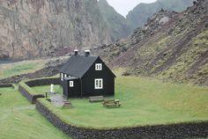 Cabin on Vestmann Island, Iceland.