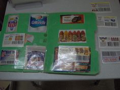matching coupon file folder game