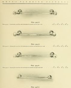 Towel bars from Mott's 1907 plumbing catalog.
