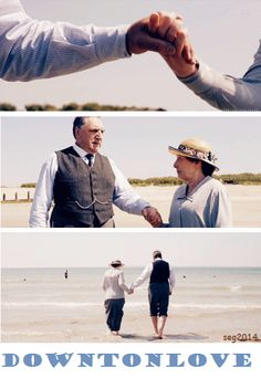 downton abbey series 4 love at the seaside