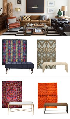 Coffee tables + Rugs