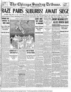 Aug. 30, 1914: Paris suburbs await German siege.