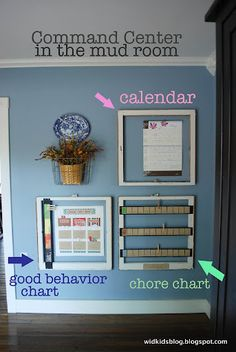 idea, command centers, organ, mom command, behavior charts, mud rooms, hous, kid, chore charts