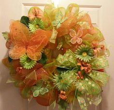 wreath project, spring wreath, wreath mesh, mesh wreaths
