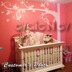 LARGE Wall Decals - Family Tree with Flowers - Tree Wall Decal for Picture Frames  - TRFRM010. $95.00, via Etsy.