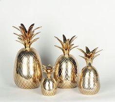 vintage brass pineapple ice buckets
