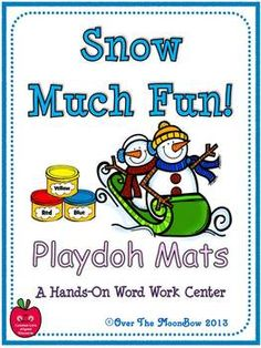 Your students will love these winter themed playdoh mats that will help them learn vocabulary and develop their fine motor skills; a perfect complement to your seasonal themed activities!