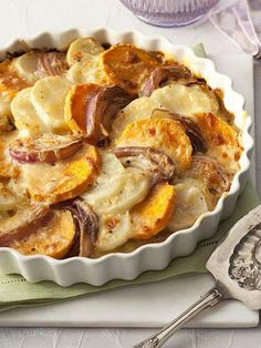 Get the recipe for Two-Potato Gratin