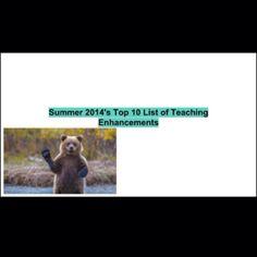 Top 10 Teaching Enhancements. Video. #edtech #ipaded
