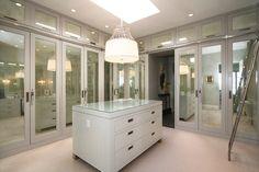 closet designs, dream closets, closet doors, master closet, teiger architect, mirror closet