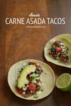 Classic Carne Asada Tacos
