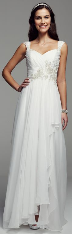This cute A-line wedding dress is perfect for a woodland wedding #woodland #wedding #woodlandwedding - because it has a sweetheart neckline and a softly flowing skirt. read more - (article) - http://www.boomerinas.com/2014/10/17/woodland-wedding-dresses-ideas-for-wedding-2-or-3-or-4-or-whatever/