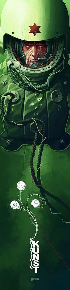 EK09 - Hexagram Green - Derek Stenning - http://borninconcrete.com