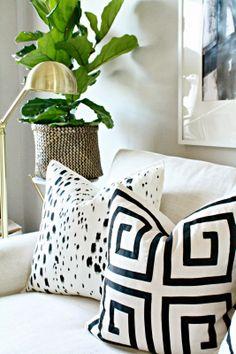 DIY: Painted Pillows