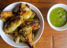 Colombian-Style Chicken Wings with Cilantro and Mint Sauce | My Colombian Recipes