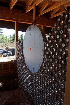 Making a round opening in bottle wall this is what i should do with all of my wine bottles:)
