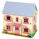 Flower and garden ideas for kids in time for Chelsea Flower Show. Lovely wooden Bigjigs Rose Cottage doll house. http://overtheretohere.com/flowers-for-children-chelsea-flower-show/