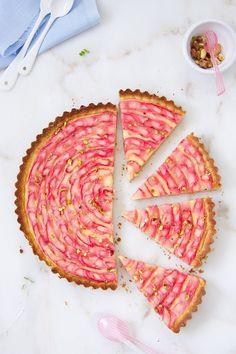 Receta de tarta de ruibarbo