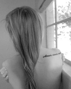 Amor vincit omnia (love conquers all)