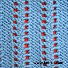 Wrong side of knitting stitch pattern – Lace 2