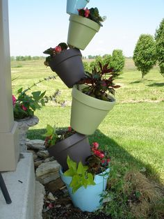 Stacked pots.....love this!