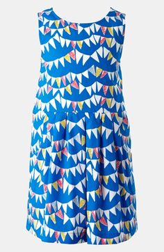 Preschool summer style: Bright blue pennant tulip dress