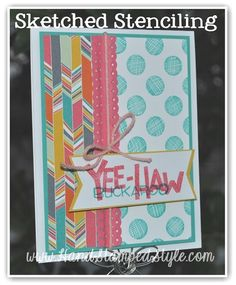 How To Stencil Sketch using Yee-Haw set, with http://www.handsatmpedstyle -Learn all kinds of cool techniques with Erin @handstampedstyle