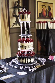 "Photo 1 of 42: 1950's Swing Dance / Jazz Club / Birthday ""Swing into 60!"" | Catch My Party Dance 60Th, 60Th Birthday Cake, 60 Birthday Cake Ideas, 60S Birthday Parties Theme, Wedding Cake, Swings Dance, Music Cake, Dance Cake, Birthday Cakes"