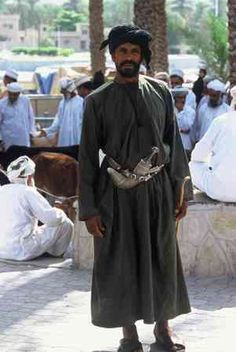 Omani man with traditional khanjar (dagger)