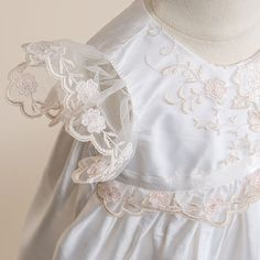 Scarlett 1 Piece Silk Christening Gown (Girl) | Heirloom Baptism Outfits & Dresses #Babybeauandbelle
